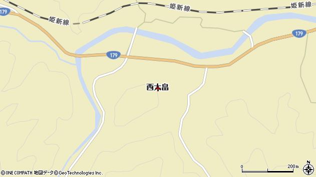 〒679-5534 兵庫県佐用郡佐用町西大畠の地図