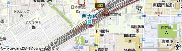 京都府京都市南区周辺の地図