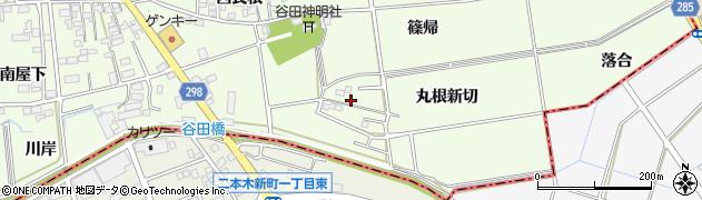 愛知県知立市谷田町(丸根新切)周辺の地図