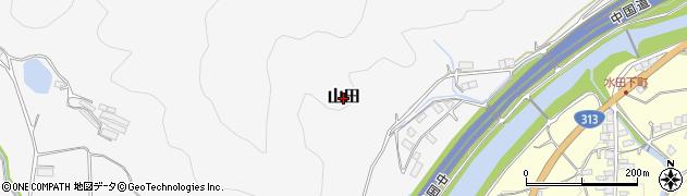 岡山県真庭市山田周辺の地図