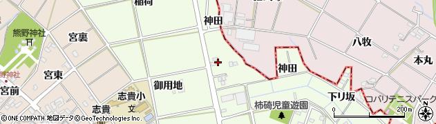 愛知県安城市柿碕町(東山)周辺の地図