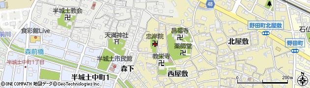 忠岸院周辺の地図