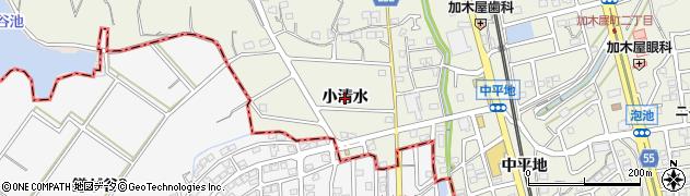愛知県東海市加木屋町(小清水)周辺の地図