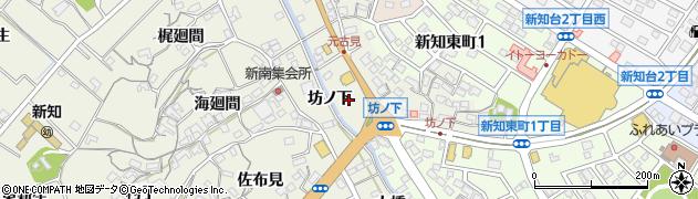 愛知県知多市新知周辺の地図