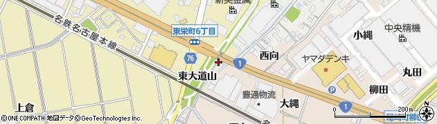 愛知県安城市東栄町(東大道山)周辺の地図
