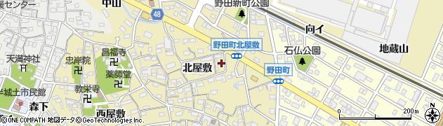愛知県刈谷市野田町(北屋敷)周辺の地図