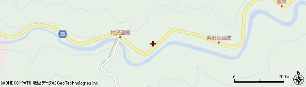 愛知県岡崎市井沢町(西ノ入)周辺の地図