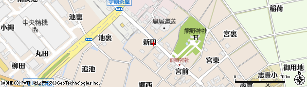 愛知県安城市尾崎町(新田)周辺の地図