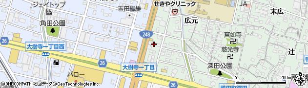 ピザーラ 岡崎北店周辺の地図