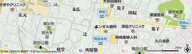 忍阿院周辺の地図