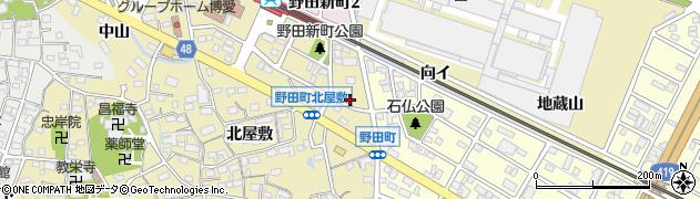 愛知県刈谷市野田町(向イ)周辺の地図