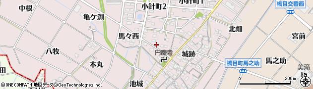 愛知県岡崎市小針町(油デン)周辺の地図