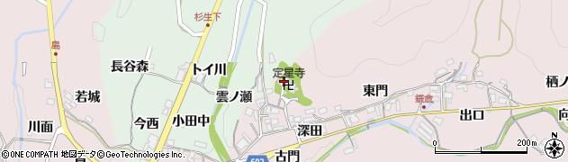 定星寺周辺の地図