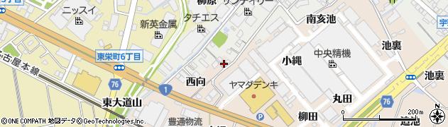 愛知県安城市尾崎町(上大縄)周辺の地図
