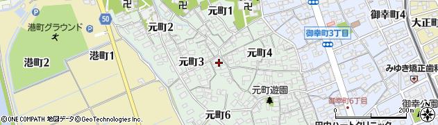 愛知県刈谷市元町周辺の地図