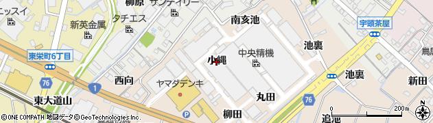 愛知県安城市尾崎町(小縄)周辺の地図