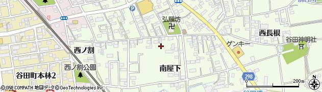愛知県知立市谷田町周辺の地図