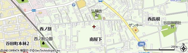 愛知県知立市谷田町(南屋下)周辺の地図