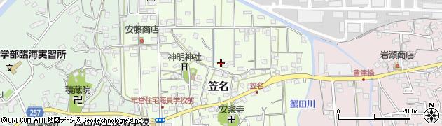千葉県館山市笠名周辺の地図