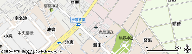愛知県安城市橋目町(新居林)周辺の地図