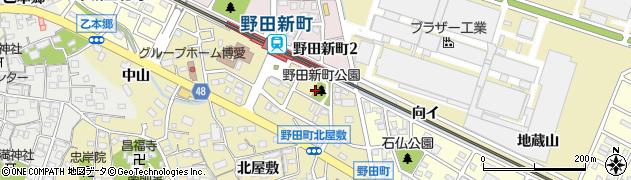 愛知県刈谷市野田町(芝ノ中)周辺の地図