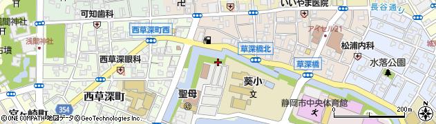 静岡県静岡市葵区城内町周辺の地図