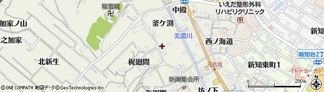 愛知県知多市新知(釜ケ渕)周辺の地図