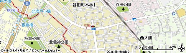 愛知県知立市谷田町本林周辺の地図