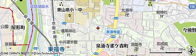京都府京都市東山区泉涌寺門前町周辺の地図