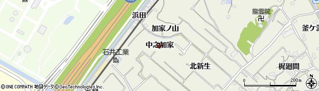 愛知県知多市新知(中之加家)周辺の地図