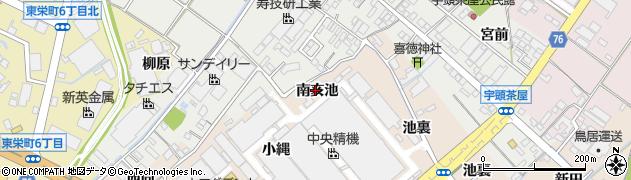 愛知県安城市尾崎町(南亥池)周辺の地図