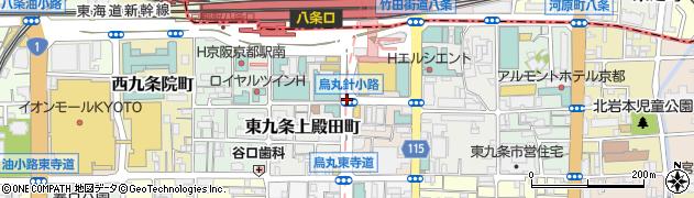 烏丸針小路周辺の地図