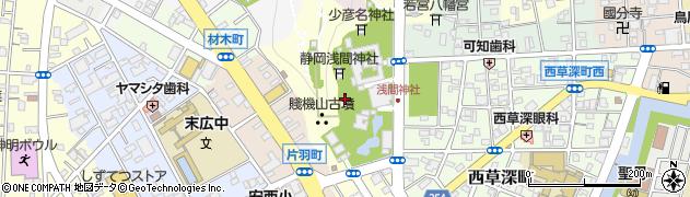 八千戈神社周辺の地図