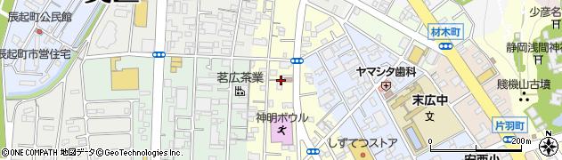 静岡県静岡市葵区神明町周辺の地図