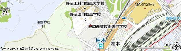 静岡県静岡市葵区宮前町周辺の地図