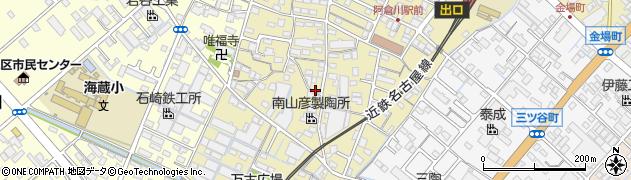 三重県四日市市万古町周辺の地図