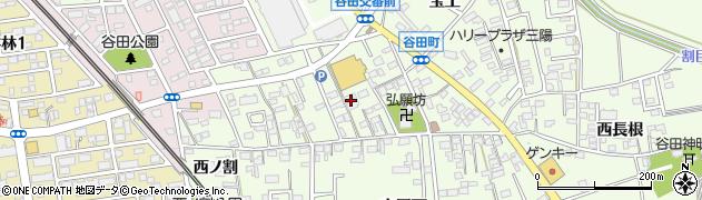 愛知県知立市谷田町(北屋下)周辺の地図