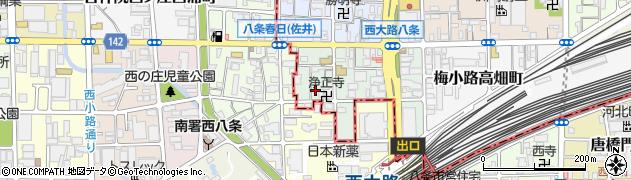 京都府京都市下京区七条御所ノ内南町周辺の地図