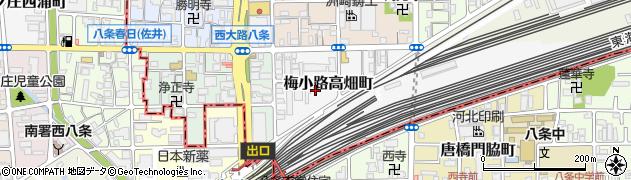京都府京都市下京区梅小路高畑町周辺の地図