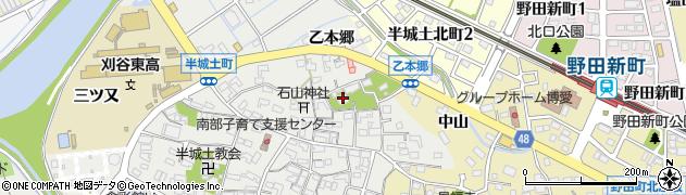 愛知県刈谷市半城土町(乙本郷)周辺の地図