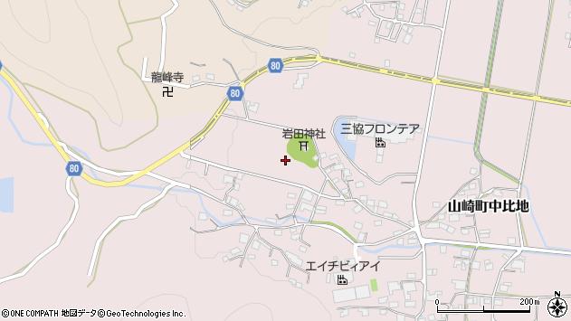 〒671-2558 兵庫県宍粟市山崎町上比地の地図