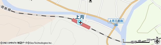 兵庫県佐用郡佐用町周辺の地図