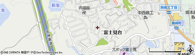 滋賀県大津市富士見台周辺の地図