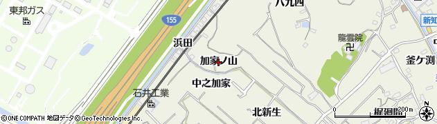 愛知県知多市新知(加家ノ山)周辺の地図
