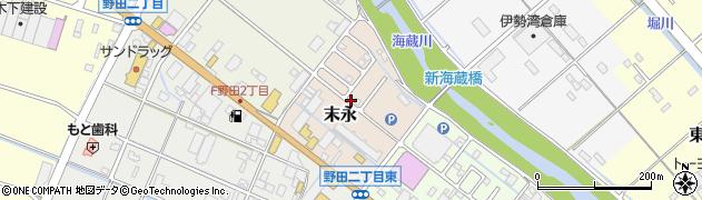 三重県四日市市末永周辺の地図