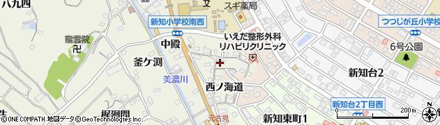 愛知県知多市新知(斉宮畑)周辺の地図
