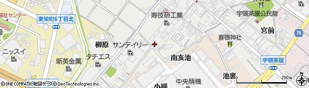 愛知県安城市宇頭茶屋町(南裏)周辺の地図