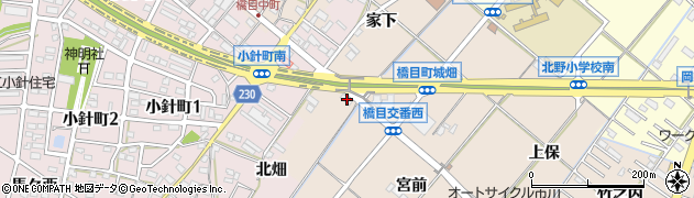 愛知県岡崎市橋目町(柳ケ坪)周辺の地図
