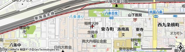 東寺稲荷神社周辺の地図