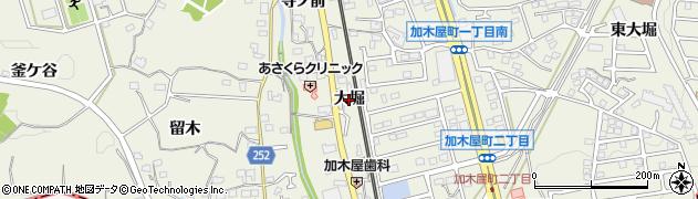 愛知県東海市加木屋町(大堀)周辺の地図